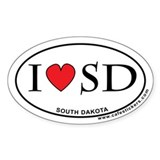 I Love South Dakota Decal