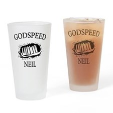 Godspeed Neil Armstrong Tribute Drinking Glass