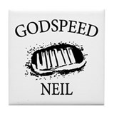 Godspeed Neil Armstrong Tribute Tile Coaster