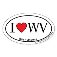 I Love West Virginia Decal