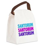 SANTORUMTeal.png Canvas Lunch Bag