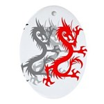 OYOOS Dragon design Ornament (Oval)