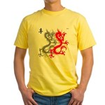 OYOOS Dragon design Yellow T-Shirt