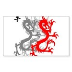OYOOS Dragon design Sticker (Rectangle 10 pk)