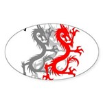 OYOOS Dragon design Sticker (Oval)