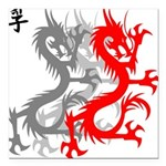 OYOOS Dragon design Square Car Magnet 3