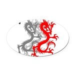 OYOOS Dragon design Oval Car Magnet