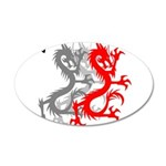 OYOOS Dragon design 20x12 Oval Wall Decal