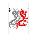 OYOOS Dragon design Mini Poster Print