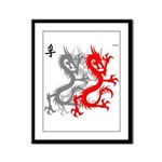 OYOOS Dragon design Framed Panel Print