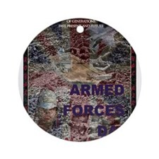 UK Armed Forces Day Ornament (Round)