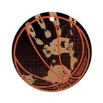 OYOOS Infamous Basketball design Ornament (Round)