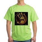 OYOOS Infamous Basketball design Green T-Shirt