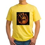 OYOOS Infamous Basketball design Yellow T-Shirt