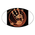OYOOS Infamous Basketball design Sticker (Oval)