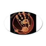 OYOOS Infamous Basketball design 20x12 Oval Wall D