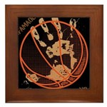 OYOOS Infamous Basketball design Framed Tile