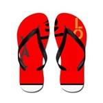 OYOOS Loyalty design Flip Flops