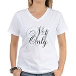 OYOOS No1 Only design Women's V-Neck T-Shirt