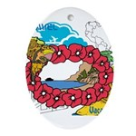 OYOOS Travel Vacation design Ornament (Oval)