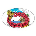 OYOOS Travel Vacation design Sticker (Oval)