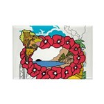 OYOOS Travel Vacation design Rectangle Magnet (10