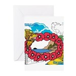 OYOOS Travel Vacation design Greeting Cards (Pk of