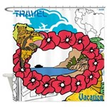 OYOOS Travel Vacation design Shower Curtain