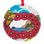 OYOOS Travel Vacation design Round Ornament
