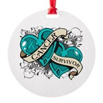 Ovarian Cancer Survivor Round Ornament