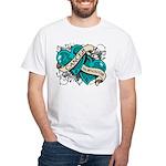 Ovarian Cancer Survivor White T-Shirt