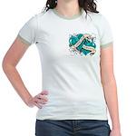 Ovarian Cancer Survivor Jr. Ringer T-Shirt