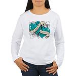 Ovarian Cancer Survivor Women's Long Sleeve T-Shir