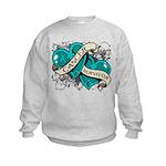 Ovarian Cancer Survivor Kids Sweatshirt