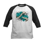 Ovarian Cancer Survivor Kids Baseball Jersey