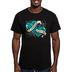 Ovarian Cancer Survivor Men's Fitted T-Shirt (dark