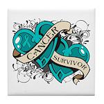 Ovarian Cancer Survivor Tile Coaster