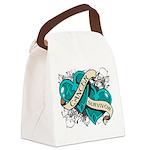 Ovarian Cancer Survivor Canvas Lunch Bag