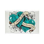 Ovarian Cancer Survivor Rectangle Magnet