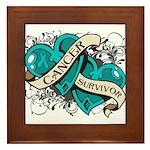 Ovarian Cancer Survivor Framed Tile