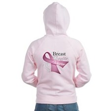 Pink Breast Cancer Warrior Zip Hoodie