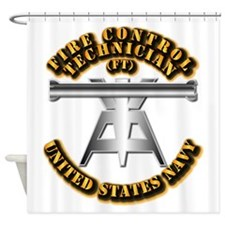 Navy - Rate - FT Shower Curtain
