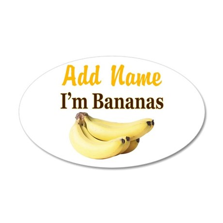 I LOVE BANANAS 20x12 Oval Wall Decal