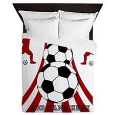 Unique Football Queen Duvet
