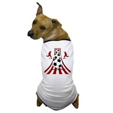 Personalized Red White Soccer Dog T-Shirt