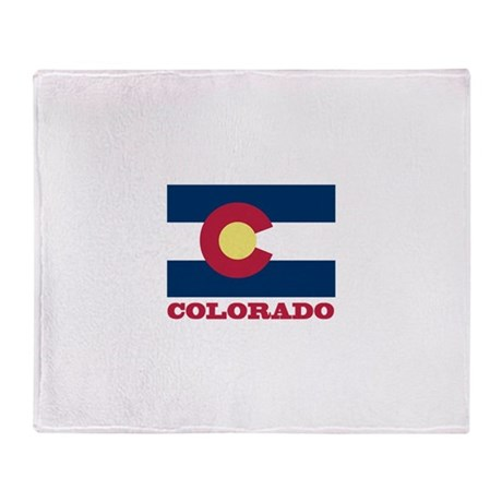Colorado State Flag Throw Blanket