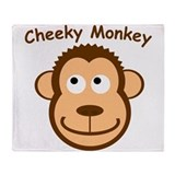 CheekyMonkey Throw Blanket