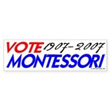 Vote Montessori (r/b) Bumper Car Sticker
