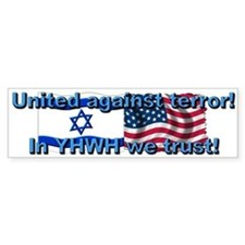 United against terror! Bumper Bumper Sticker