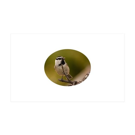 chickadee with seed 35x21 Wall Decal
